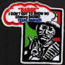 "( 10 ) Texas Ranger Patches Ranger with Gun 3-1/4"" x 3-1/4"" Wholesale Price"