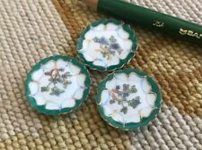 Bespaq Miniature Dollhouse 3 Porcelain China Dish Plates 218