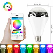 Bluetooth Smart LED Bulb Music Light Speaker Android & Apple Bayonet