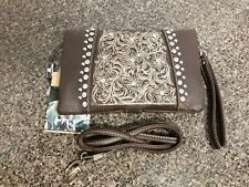 Montana West 3 in 1 Clutch Wrist-let Crossbody Bag Western Wallet Floral Purse