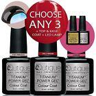 QUTIQUE Professional Gel Nail Polish Colour Kit/Set inc LED Lamp -ANY 3 Colours
