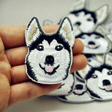 Husky Dog Head Embroidered Iron On Patch Sewing Applique Badge Clothes Stickers