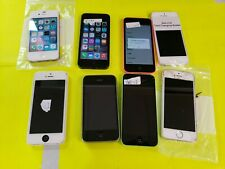 ***LOT OF 8 IPHONE 5C 5S 3GS FOR PARTS OR REPAIR