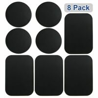 8PCS Metal Plates Stickers Replace For Magnetic Car Mount Magnet Phone Holder