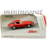 SCHUCO 45 201 7500 JAGUAR E-TYPE COUPE 1/64 DIECAST MODEL CAR RED