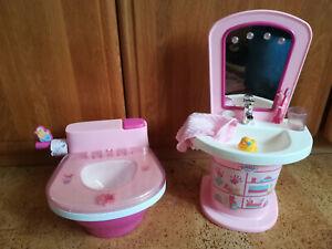 """Baby Born interaktive Toilette und Waschtisch """"Top ,gut erhalten"""""""