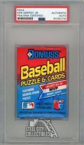 Ken Griffey Jr Autographed 1989 Donruss Baseball Pack PSA/DNA
