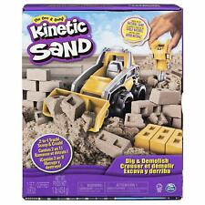 Kinetic Sand Dig Demolish Truck Playset 1lb Construction Brick Mold Jackhammer