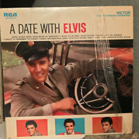 """ELVIS PRESLEY - A Date With Elvis (LSP 2011(e)) - 12"""" Vinyl Record LP - EX"""