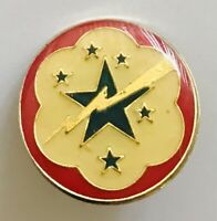 Supply Services WW2 Western Pacific Pin Badge Lightning US Military Vintage (R4)