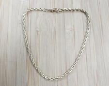 """~ 7-3/4"""" ~ 3.4grams ~ 13-E1501 14Kt Solid Yellow Gold Rope Link Bracelet"""
