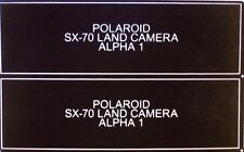 NEW FiIm Door Label for Polaroid SX-70 Alpha 1 Cameras