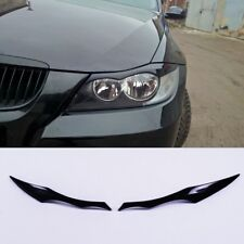 bmw e90 e91 UNPAINTED HEADLIGHT EYE LID BROWS EYELIDS EYEBROWS COVER (Fits: BMW)