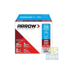 5000 x ARROW T50 12 mm 1/2 Pouces Pro Pack Staples Box of 5000 Arrt 5012IP