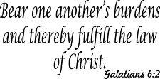Galatians 6:2 11 x 22 Bible Verse Wall Decal By Bible Verse Wall Decals