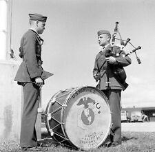 WW2 Photo WWII US Marine Bagpipers 1943 USMC World War Two / 8020