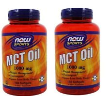 NOW Foods MCT Oil 1000 mg, 150 Softgels-2 Pack