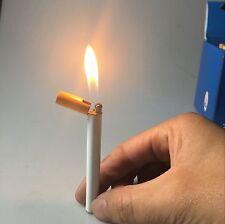 Novelty Jet Flame Cigarette Shaped Windproof Refillable Butane Gas Cigar Lighter