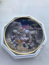 """Hamilton Collection Precious Moments Plate """"Unto Us A Child Is Born"""" Coa"""