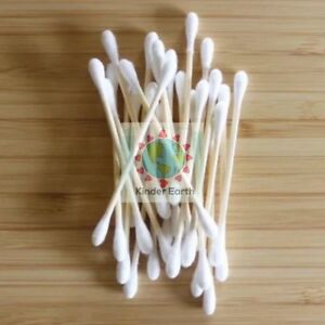 Cotton Ear Buds - Bamboo + Cotton - 100% Biodegradable - Plastic Free UK SELLER