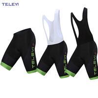 Men's Cycling Bib Shorts Gel Padded Biking Bicycle Short Pants Tights Black