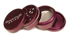 "CLASSIC DIAMOND GRIND 1.50"" Aluminum 4 piece herb Grinder w/screen 40mm PURPLE"