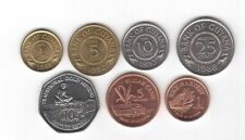 GUYANA 7 DIF UNC COINS SET 1 CENT - 10$ 1988 - 2011 YEARS