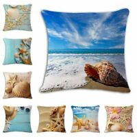 New Seaside Beach Cotton Linen Pillow Case Throw Cushion Cover Home Sofa Decor