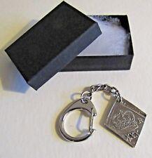 F) KEY-RING PEWTER ENGLISH CIVIL WAR DIAMON SHAPED COIN 1646 NEWARK OB8