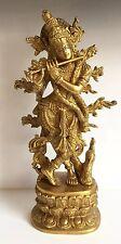 Krishna 12'' Brass Murti Krishn 3.5Kg Hindu God Radha Krishna Hare Rama Iskon