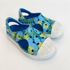 Crocs Blue Palm Leaf Slip On Water Shoes Toddler Girl size 8