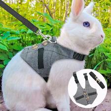 Adjustable Small Animal Harness Leash Rabbit Squirrel Fashion Walking Vest Gray