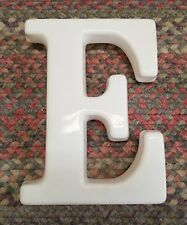 "White Plastic 12"" Hanging letter E Store Sign spell-out alphabet Capital vintage"