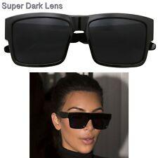 Kardashian Sunglasses Kim Super Dark Lens Black Fashion Top Women Square Aviator