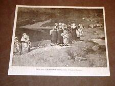Esposizione di Torino del 1884 In montibus sanctis Quadro di Lorenzo Delleani