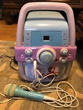 New listing Disney Frozen Karaoke Machine Cd Player With Lights With Microphone