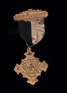 Buffalo 1903 Knights Templar Medal. Holyrood Commandery Cleveland, OH