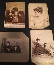4 Late 1800's Family Photographs Picture Photo Broadway Tilsonburg Ontario RARE