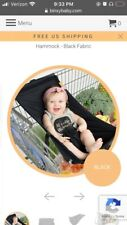 Binxy Baby Shopping Cart Hammock- Black Sold Out