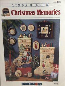 Dimensions Cross Stitch Pattern Chart #158 Christmas Memories Stockings