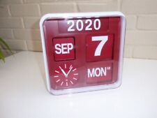 HABITAT Flap Red Small Analogue Wall Clock 24 x 24cm Date & Year