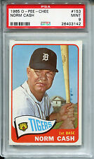 1965 O-Pee-Chee #153 Norm Cash PSA 9 MINT *1 of 3, None Higher* Detroit Tigers