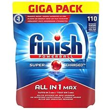 Finish All in 1 Max Pastiglie 110 Capsule Detersivo Stoviglie Regular Giga Pack