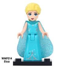 Custom Minifigure Disney Frozen Princess Elsa Blue Cape