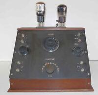 Récepteur radio TSF à batteries 2 x lampes extérieures années 20's