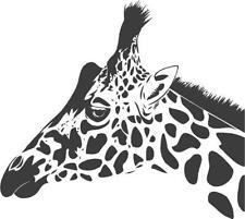 Giraffe Head   vinyl wall decal