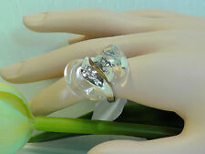 Alexis Bittar Clear Lucite Swirl Ring. Size 7.***********NEW*********$275******