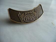 Harley Davidson  HOG PIN  1989
