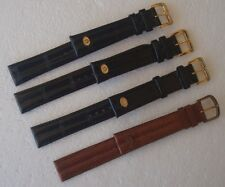 NOS Vintage Bulova Accutron Signed Leather / Lizard 18 mm Watch Straps ~ LQQK!