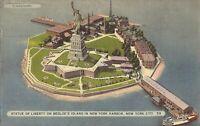 NEW YORK CITY - Bedloe's Island - Statute of Liberty - Harbor, 1944 - ferry